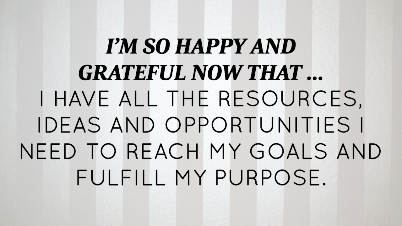May 2015 Affirmation Of The Month