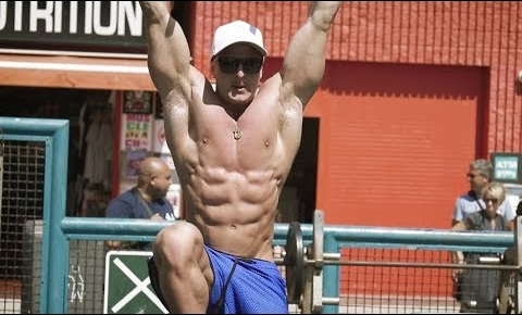 6 Pack Abs Workout At Muscle Beach!