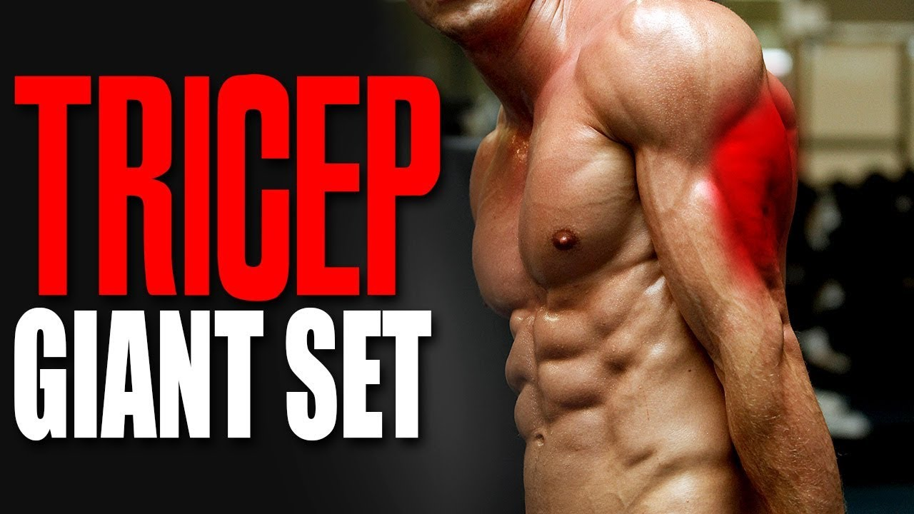 DO GIANT SETS FOR GIANT TRICEPS!