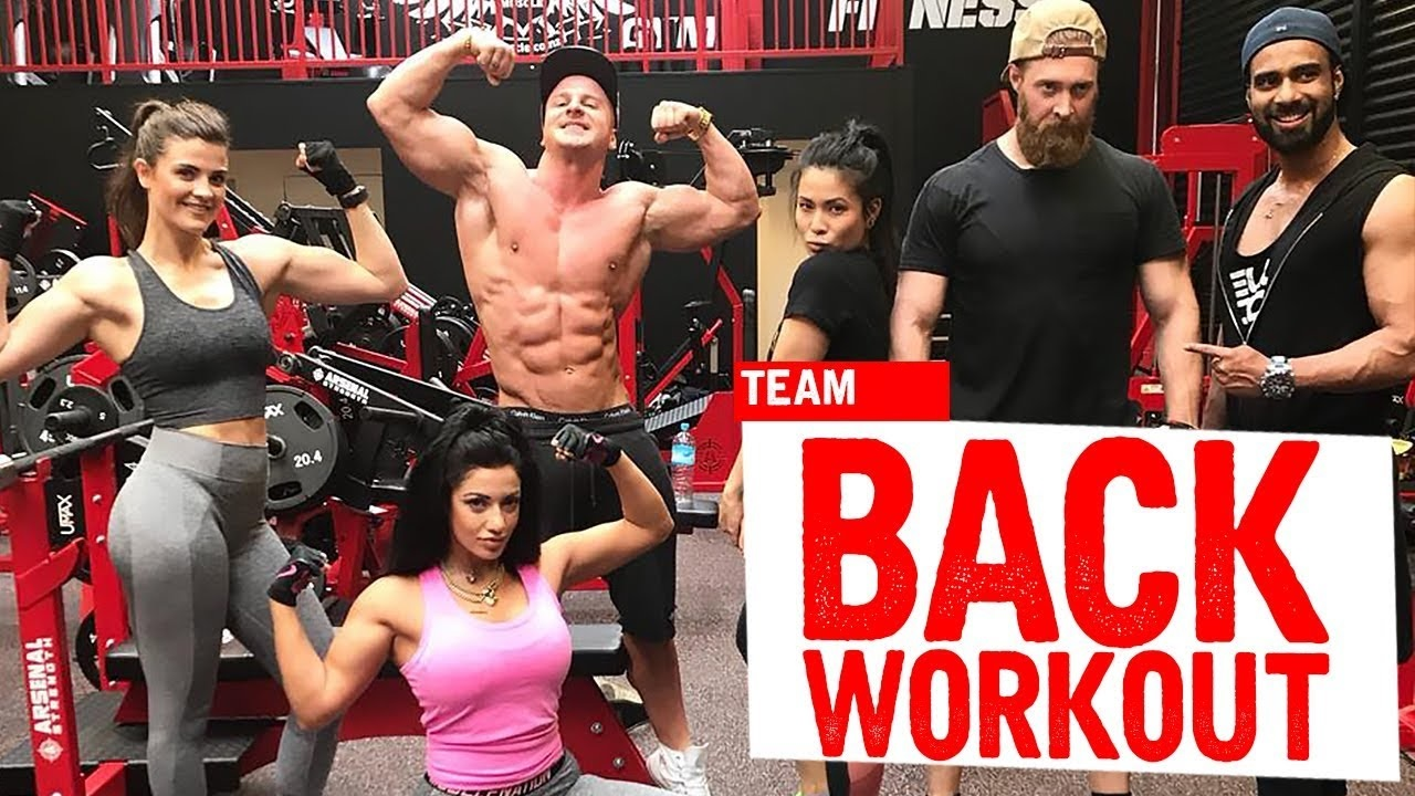 Back workout with Hollie (GIRL WORKOUT!)