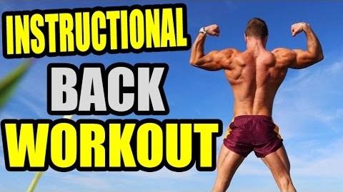 Instructional back workout