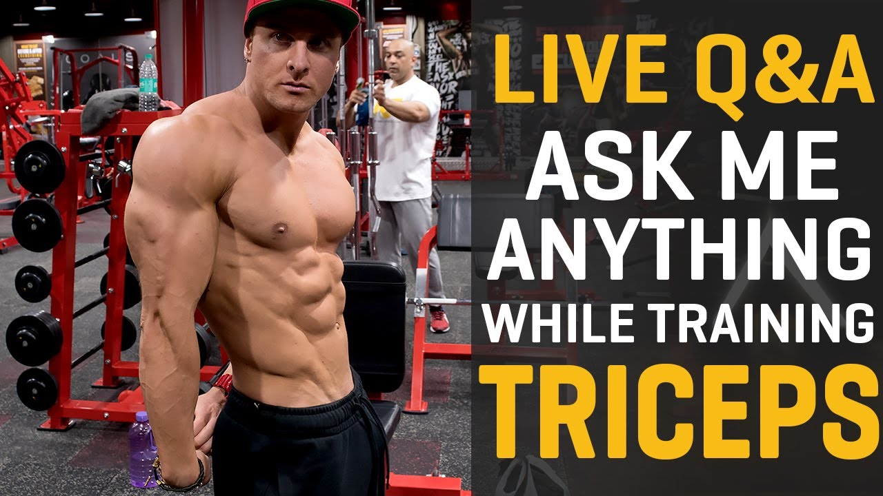 Tricep Workout! (LIVE STREAM)