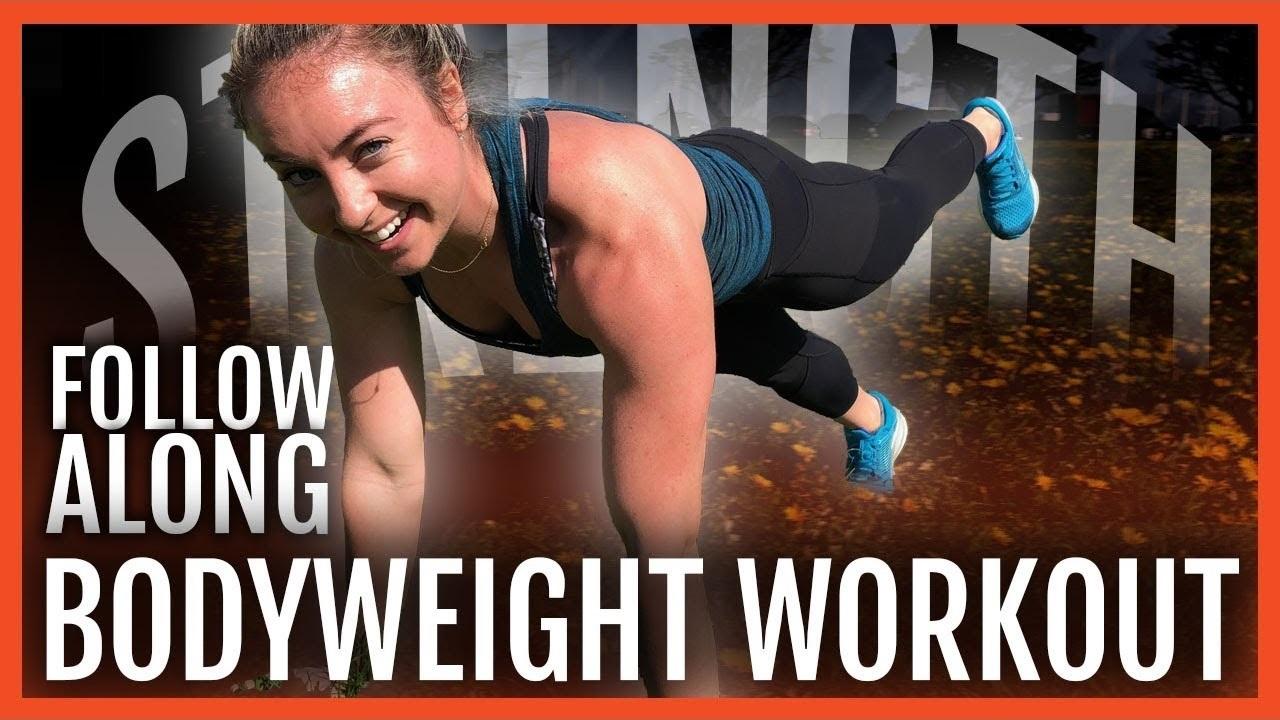 Get Strong Now | Follow Along Bodyweight Workout For Runners
